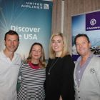 Massimo Larini, Martina Coogan, Aoife Gregg (all United Airlines) and John Grehan (G Adventures)