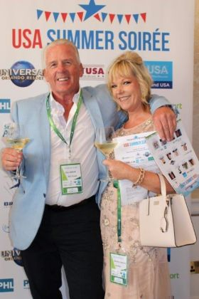 Des Abbott and Deirdre Sweeney at the USA Soiree
