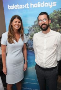 Kelly Maher (Head of Marketing) and Darren McCloskey (Social Media Manager) both Teletext Holidays