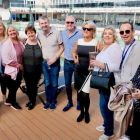 Irish trade guests preparing for the pool on the MSC Bellissima
